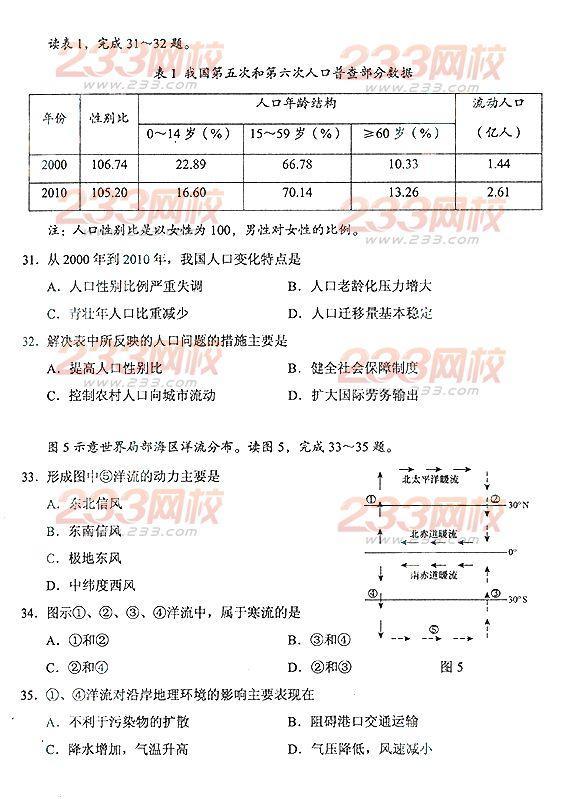 2013年山东成人高考高起点历史地理真题及答案(完整版)