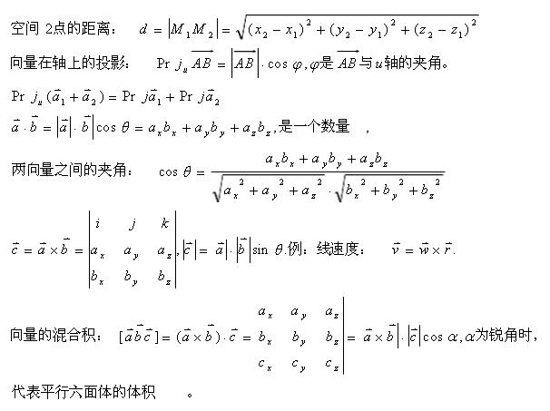 2020年山东成人高考专升本高数(一)考点:空间解析几何
