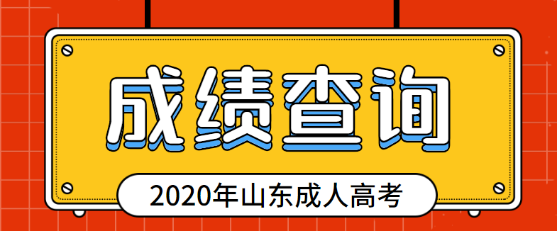 2020年山东成人高考考试成绩查询通道开通了!
