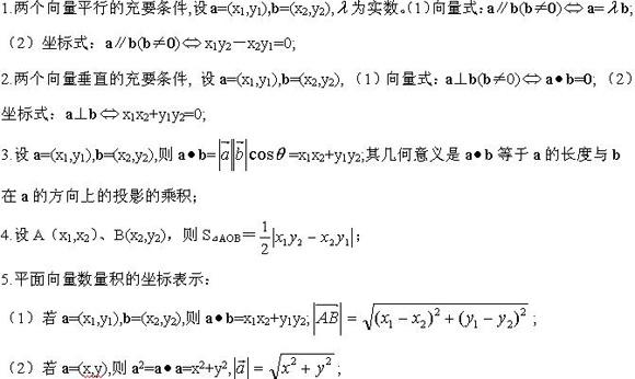 2021年山东成人高考(文科)数学复习重点:平面向量