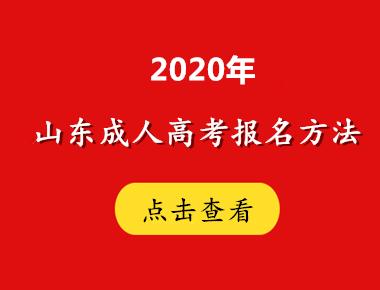 2020年山东成人高考报名方法解读