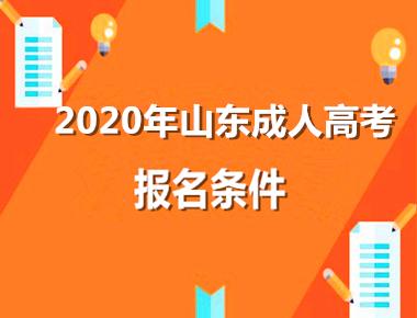 2020年山东成人高考报名条件